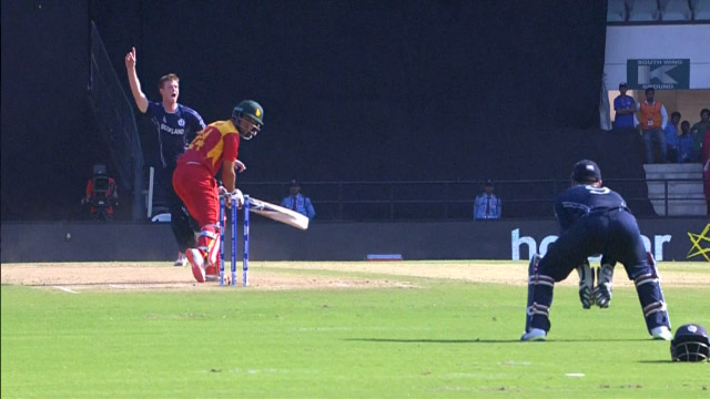 Zimbabwe Wicket Losses v Scotland Video ICC