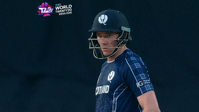 Richie Berrington Innings for Scotland V Zimbabwe Video ICC WT20 2016