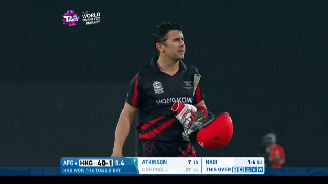 Ryan Campbell Wicket Fall HK V AFG Video ICC WT20 2016