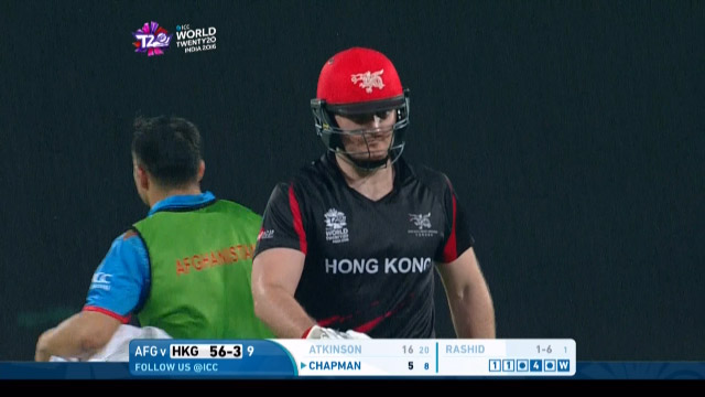 James Atkinson Wicket – HK v AFG