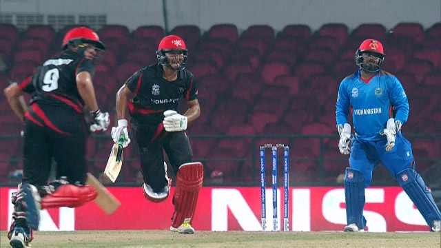 Cricket Highlights from Hong Kong Innings v Afghanistan ICC WT20 2016