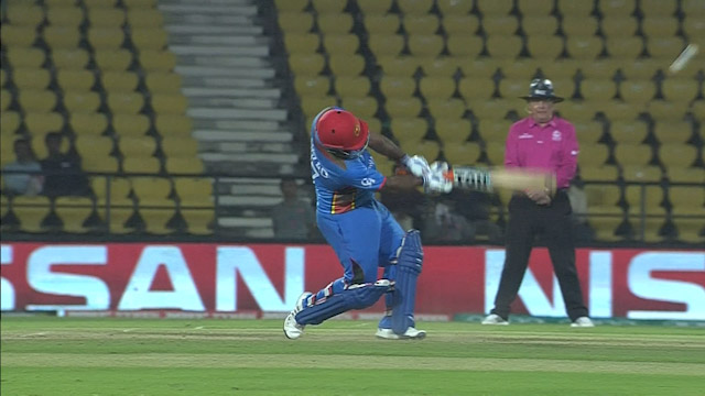 Mohammad Shahzad hits a huge Six!