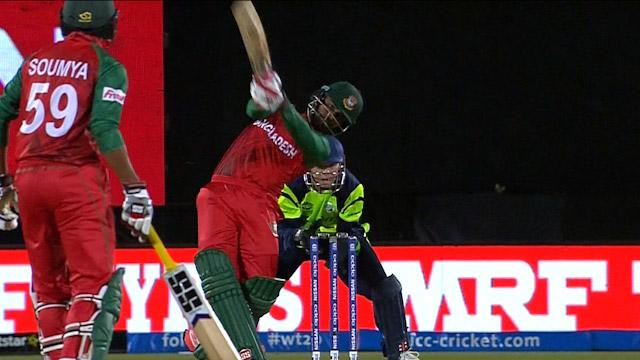 Tamim Iqbal hits a huge six!