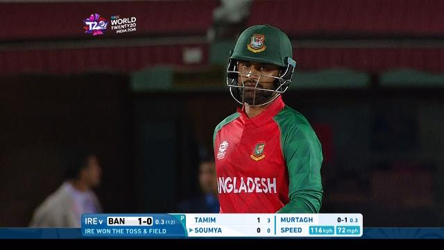 Tamim Iqbal Innings for Bangladesh V Ireland Video ICC WT20 2016
