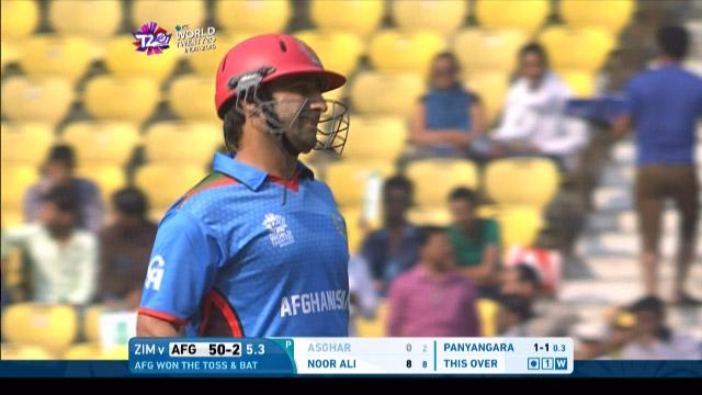 Asghar Stanikzai Wicket Fall AFG V ZIM Video ICC WT20 2016