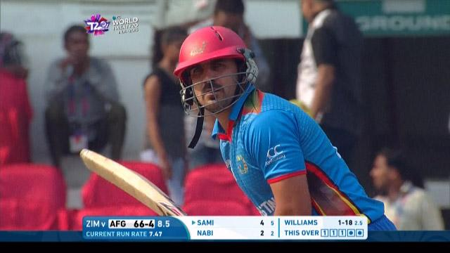 Samiullah Shenwari Innings for Afghanistan V Zimbabwe Video ICC WT20 2016