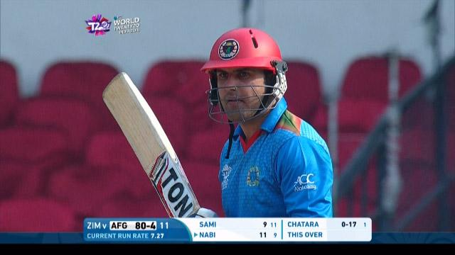 Mohammad Nabi Innings for Afghanistan V Zimbabwe Video ICC WT20 2016