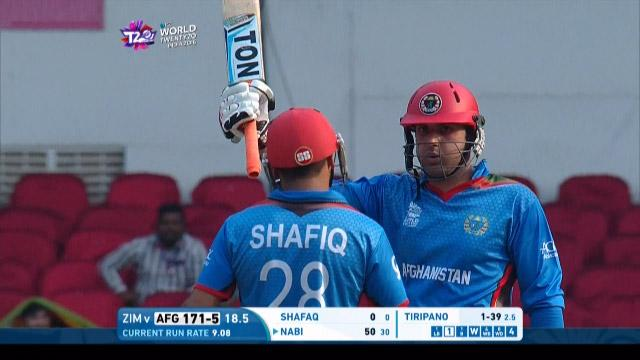 Cricket Highlights from Afghanistan Innings v Zimbabwe ICC WT20 2016