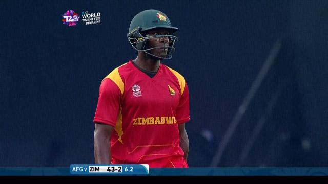 Vusi Sibanda Wicket Fall AFG V ZIM Video ICC WT20 2016