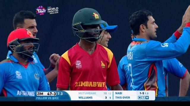 Richmond Mutumbami Wicket – ZIM v AFG