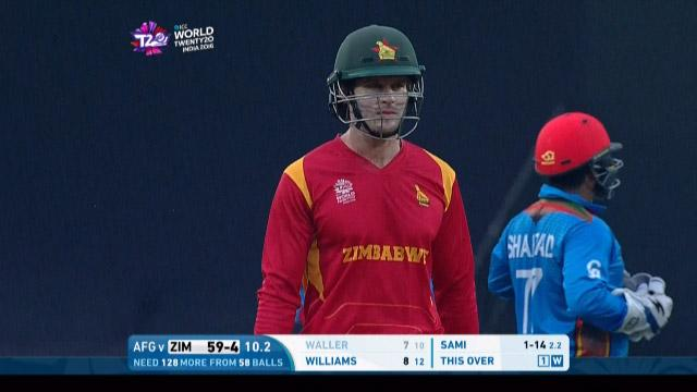 Malcolm Waller Wicket Fall AFG V ZIM Video ICC WT20 2016