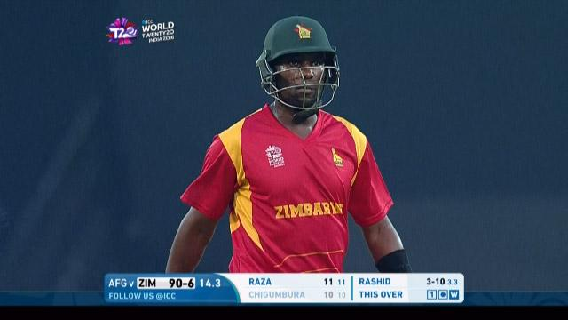 Elton Chigumbura Wicket Fall ZIM V AFG Video ICC WT20 2016