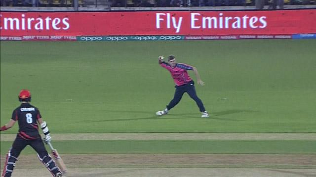Excellent fielding by Gavin Main