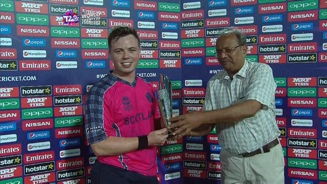 Player of the Match – Matt Machan  – SCO v HK