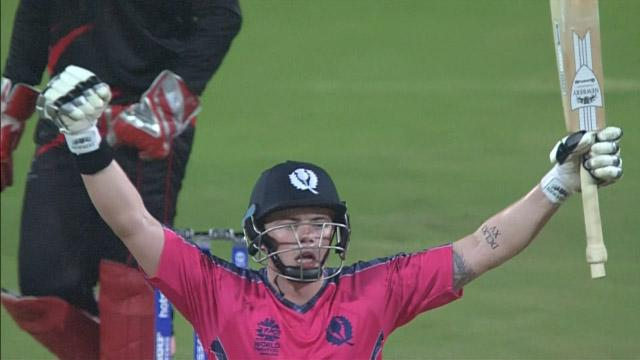 Machan smashes big 6 to seal historic win for Scotland