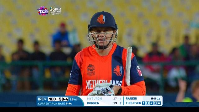 Stephan Myburgh Wicket Fall NET V IRE Video ICC WT20 2016