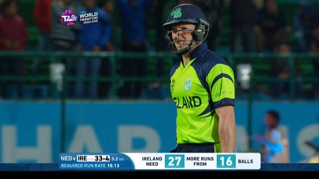 Gary Wilson Wicket Fall IRE V NET Video ICC WT20 2016