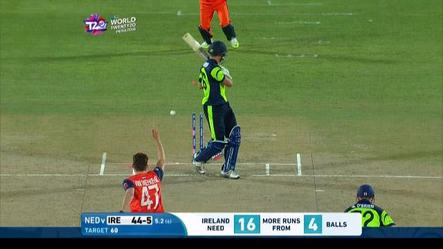 Ireland wicket Losses v Netherlands Video ICC WT20 2016