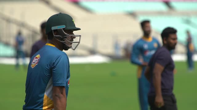 Pakistan's players warm-up for the World T20