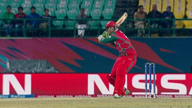 Oman Innings Super Shots v BAN ICC WT20 2016