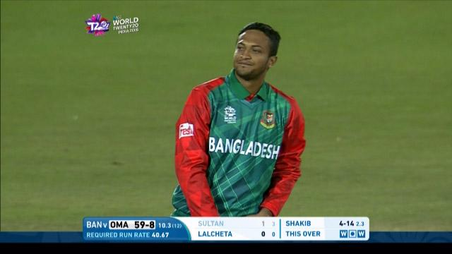 Shakib Al Hasan Match Hero for Bangladesh v OMA ICC WT20 2016