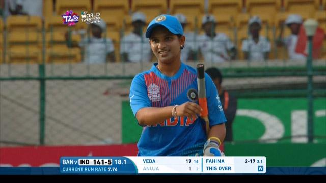 Anuja Patil Wicket Fall IND V BAN Video ICC Womens WT20 2016
