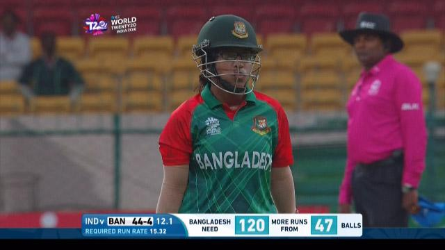 Rumana Ahmed Wicket Fall IND V BAN Video ICC Womens WT20 2016