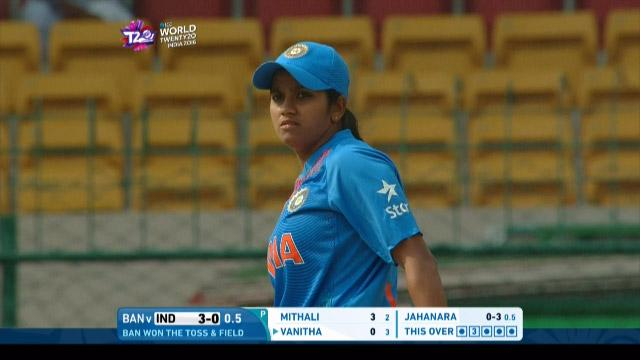 Vellaswamy Vanitha Match Hero for India v BAN ICC Womens WT20 2016