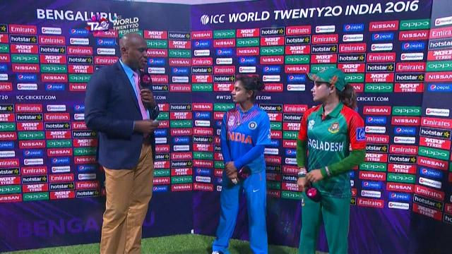 Match Presentation for IND V BAN Match 1 ICC Womens WT20 2016