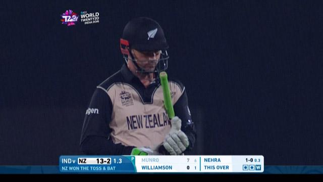 Colin Munro Wicket Fall NZ V IND Video ICC WT20 2016