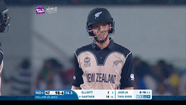 Mitchell Santner Wicket Fall NZ V IND Video ICC WT20 2016