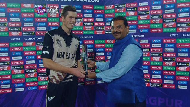 Player of the Match – Mitchell Santner  – NZ v IND