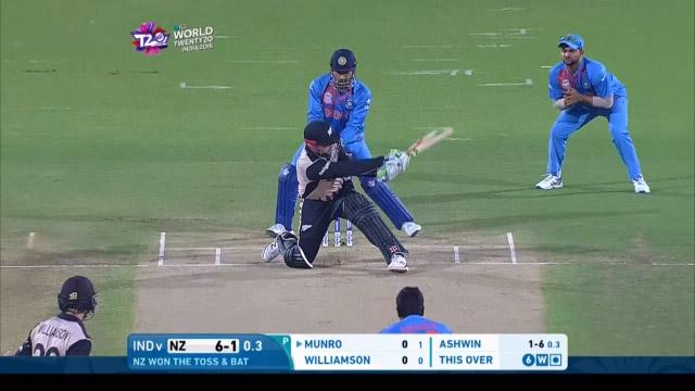 Colin Munro nails reverse sweep all the way!