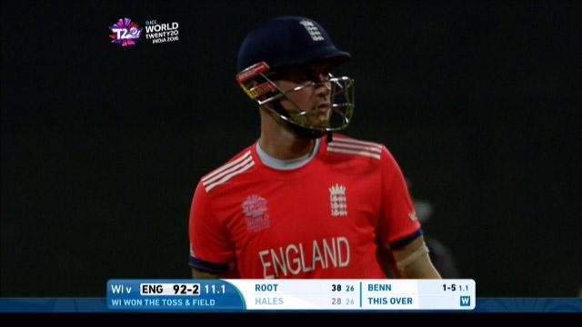 Alex Hales Wicket Fall WI V ENG Video ICC WT20 2016