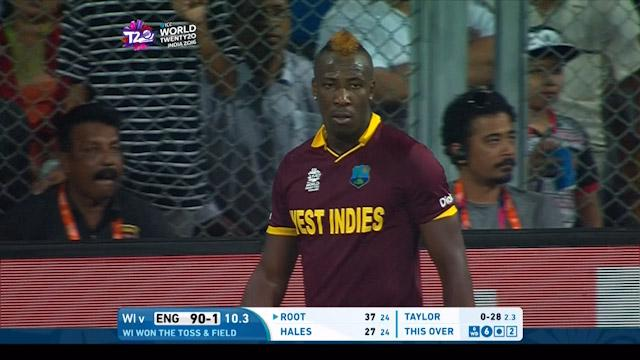 Athletic stop from Andre Russell