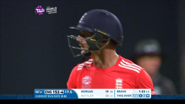Jos Buttler Wicket Fall WI V ENG Video ICC WT20 2016
