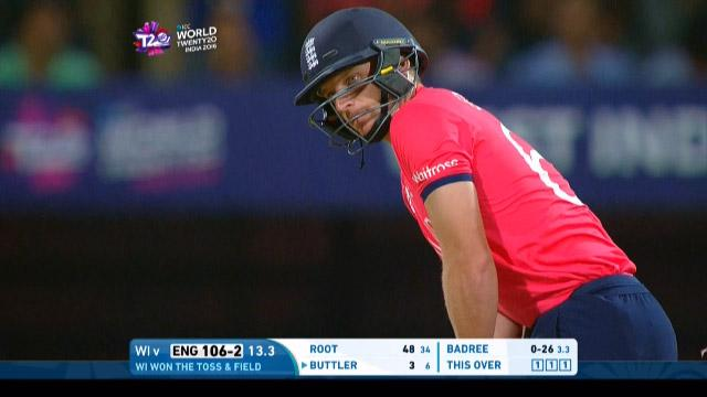 Jos Buttler Innings for West Indies V England Video ICC WT20 2016