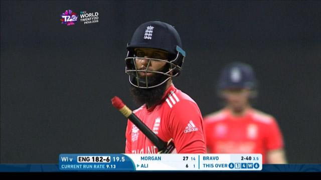 Moeen Ali Wicket Fall WI V ENG Video ICC WT20 2016