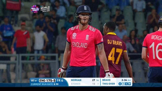 England wicket Losses v West Indies Video ICC WT20 2016