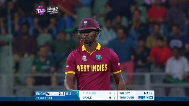 Johnson Charles Wicket Fall WI V ENG Video ICC WT20 2016