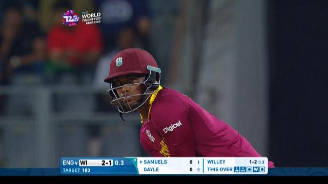 Marlon Samuels Innings for West Indies V England Video ICC WT20 2016