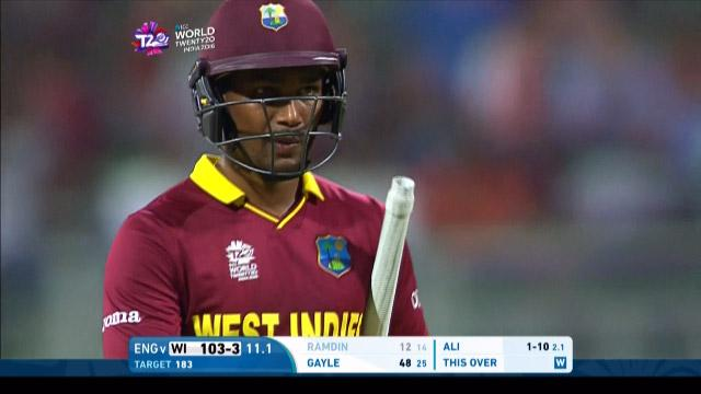 Denesh Ramdin Wicket Fall WI V ENG Video ICC WT20 2016