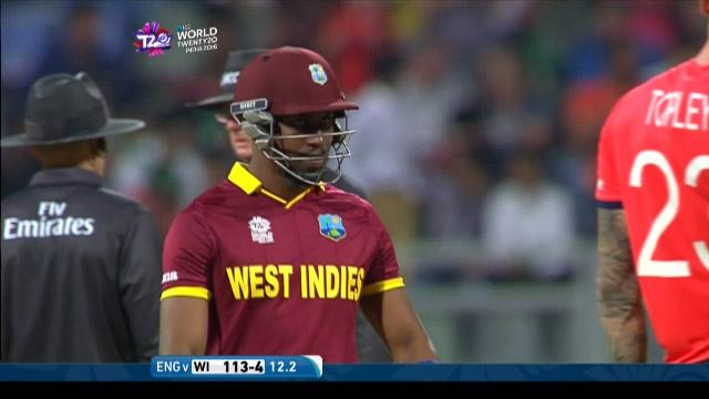 Dwayne Bravo Wicket Fall WI V ENG Video ICC WT20 2016