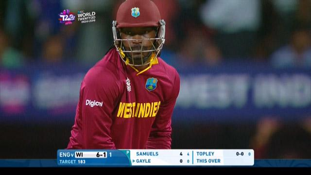 Chris Gayle Innings for West Indies V England Video ICC WT20 2016