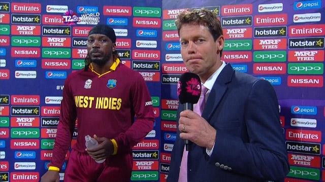 Player of the Match – Chris Gayle – WI v ENG