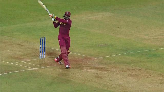 All of Chris Gayle's 11 x Sixes against England