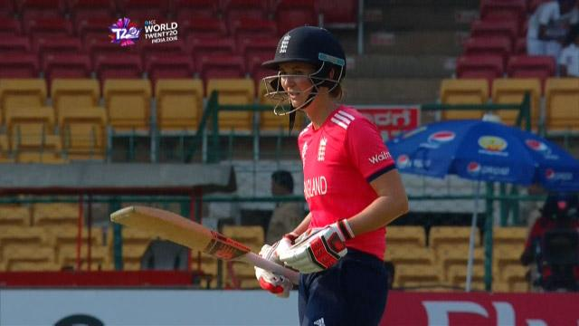 Charlotte Edwards Innings for England V Bangladesh Video ICC Womens WT20 2016