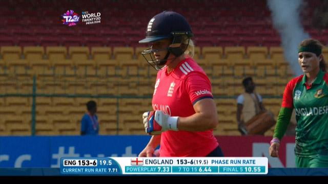 Katherine Brunt Wicket Fall ENG V BAN Video ICC Womens WT20 2016