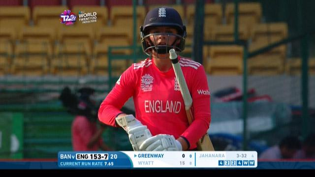 Danielle Wyatt Wicket Fall ENG V BAN Video ICC Womens WT20 2016