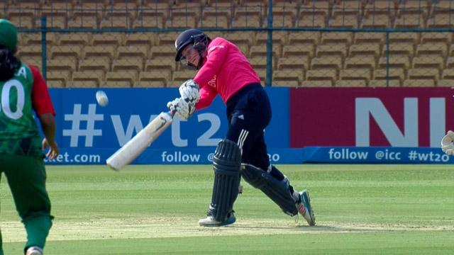 England Innings Super Shots v BAN ICC Womens WT20 2016